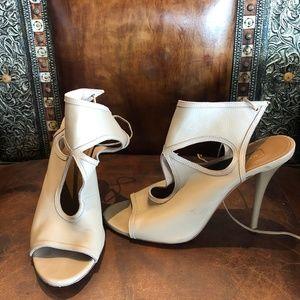Aquazzura Beige Women's Cutout Heels